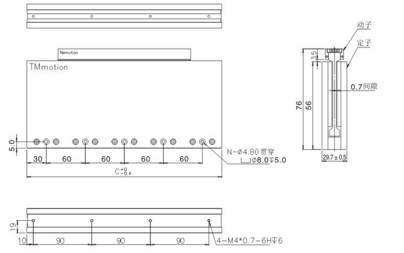 TMCA直线电机组合图